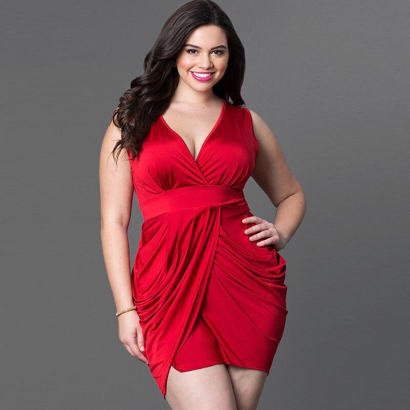 Red Black Blue Women Slinky Wrap Plus Size Dress Deep V Neck Sleeveless  Tunic Large Big Size Sexy Party Dresses Vestidos on Aliexpress.com  0d7491abfe2f