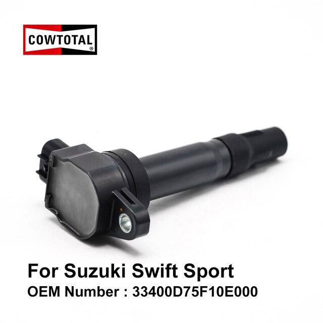 COWTOTAL Zündspule für Suzuki Swift Sport M16A 1,6 L OEM 33400D75F10E000 33400M68K20 33400 51K60 33400 75F10 ( Pack von 4)