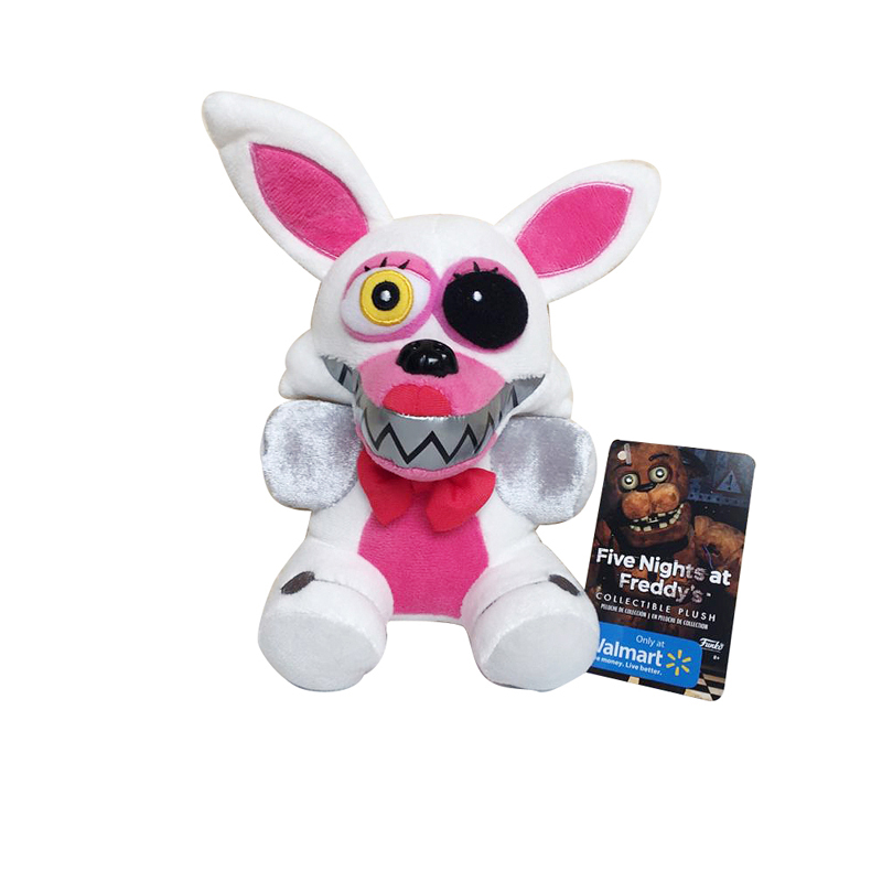 New Arrival 18cm White Five Nights At Freddy's FNAF Nightmare Fox Foxy Plush Toys Soft Stuffed Animals Toys Doll For Kids Gifts