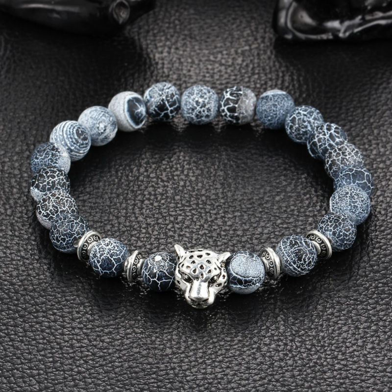 bracelets lava buddha bracelet natural plated women beaded for bead stone leopard men wholesale hombrebracelets head silver antique pulseras hombre