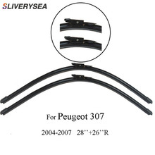 SLIVERYSEA Wiper Blades For Peugeot 307 2004-2007 28''+26''R Wipers Car Accessories Auto Rubber Windscreen Windshield CPB115-3 все цены