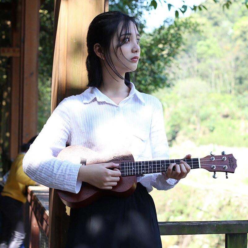 все цены на Mahogany 4 String Guitar Hawaii Guitar 18 Fret Wood Ukulele UK200