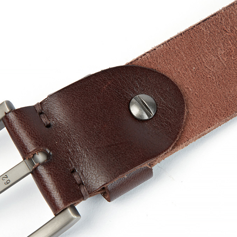 Luxury belt men 39 s belts pronged buckle man 39 s genuine leather strap for jean high quality wide brown color fashion in Men 39 s Belts from Apparel Accessories