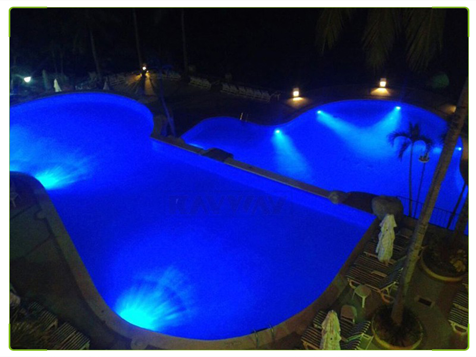54W RGB Piscina Lâmpada IP68 Luzes Lagoa
