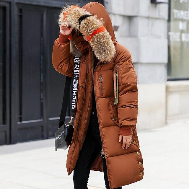 cb5fc628467 Women Long Parka Fur Collar Cotton Padded Coats Women s Parks Winter New Medium  Long Outerwear Jacket Winter Clothes Tunic 158
