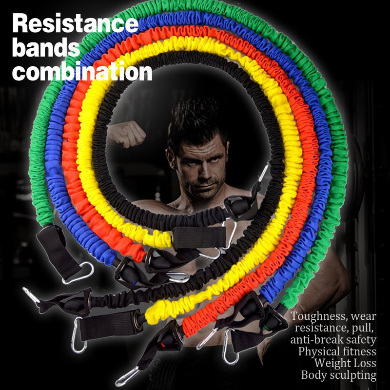 11Pcs/Set Resistance Bands Cloth Cover Fitness Pull Rope
