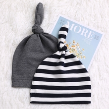 Fashion Knot Baby Hat Candy Color Cotton Boy Cap