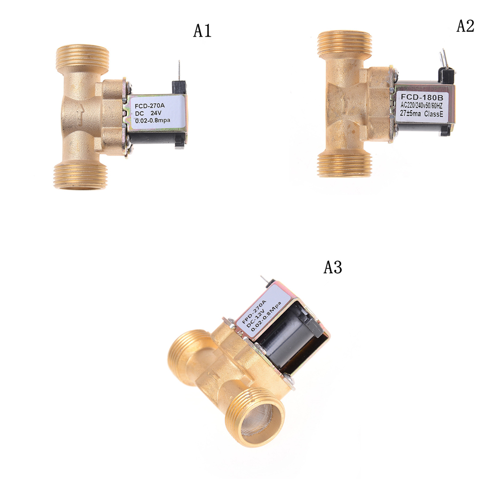 12 V DC,220V,24V Slim Brass Electric Solenoid Valve Gas Water Air Normally Closed 2 Way 2 Position Mayitr Diaphragm Valves
