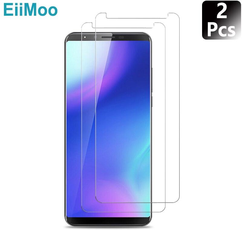 EiiMoo 2Pcs Screen Protector Tempered Glass For Cubot X18 Plus X15 X16 X17 X16S X17S R9 Power Echo Dinosaur Note S Plus Rainbow2