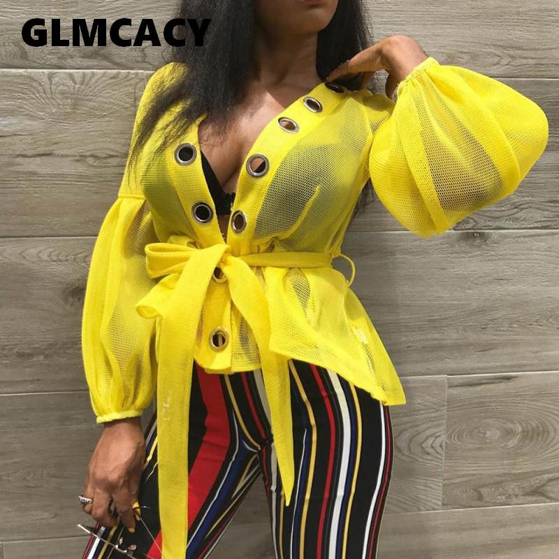 Women Plain Lantern Sleeve Lace-Up Mid-Length Long Sleeve   Blouses   Streetwear Plus Size Asymmetrical Hem Solid   Shirt