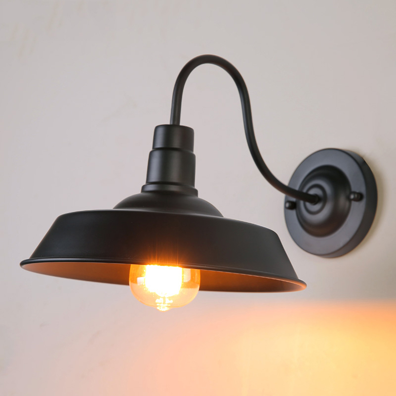 Vintage retro loft warehouse wall lamp sconce light,bedroom restaurant pub aisle front door cafe cirrodor porch light bra