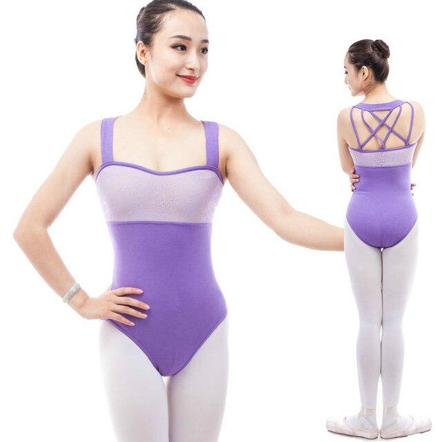 984485026066 Ballet Leotard for Women purple Dancewear Adult Dance Practice Gymnastic  Leotard Ladies Sexy backless lace Competition Jumpsuits