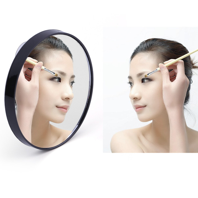 Di modo 10x lente di ingrandimento specchio cosmetico con ventose delle donne di bellezza - Specchio con lente di ingrandimento ...