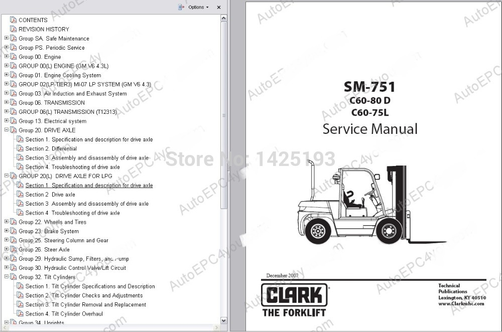 Clark Service Manual 2014 aliexpress com buy clark service manual 2014 from reliable  at bayanpartner.co