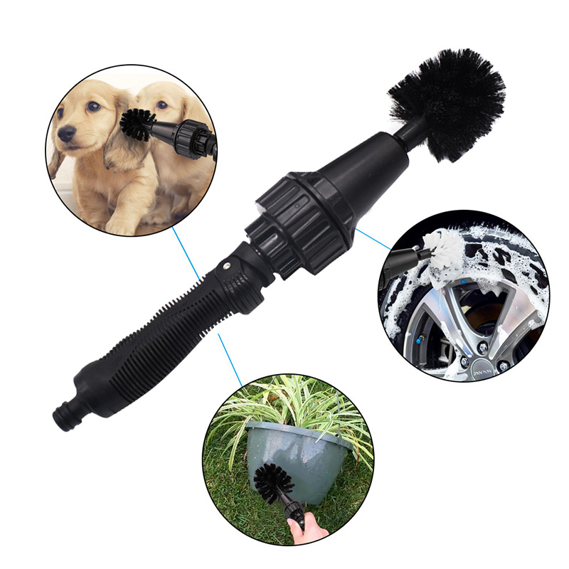 Portable Water Spray Handheld Rotate Car Wheel Tire Household Cleaning Multifunctional Brush Tool DXY88