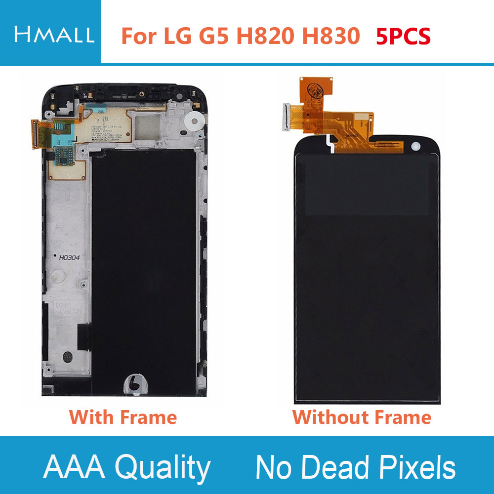 5 PCS For For LG G5 H820 H830 LCD Display +Touch Screen with Digitizer +Frame Assembly Replacement For LG G5 H820 H830 LCD Black