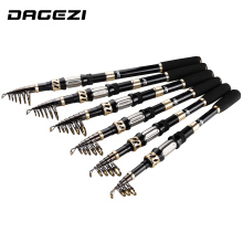 DAGEZI 99% Carbon Fiber Telescopic Handtag Fiske Rod Superhard Spinning Rod Saltvatten Rod Ultrashort Fishing Rods