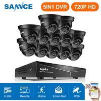 SANNCE 16CH 1080N домашняя система видеонаблюдения 5в1 DVR, HDMI с 12 шт 720 P наружная непогоды камера TVI домашний комплект системы видеонаблюдения