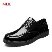 MEIL 2018 Patent Leather men Shoes Black Men Dress Shoes Luxury Party Wedding Shoes Male Zapatos Hombre oxford shoes for men