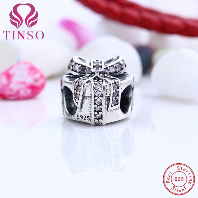 524faa6bc2ac US $13.19 9% OFF|100% Real 925 Sterling Silver Charm Heart Gift Box Fit  Original Pandora Charms Beads Bracelet for Jewelry Making-in Beads from ...