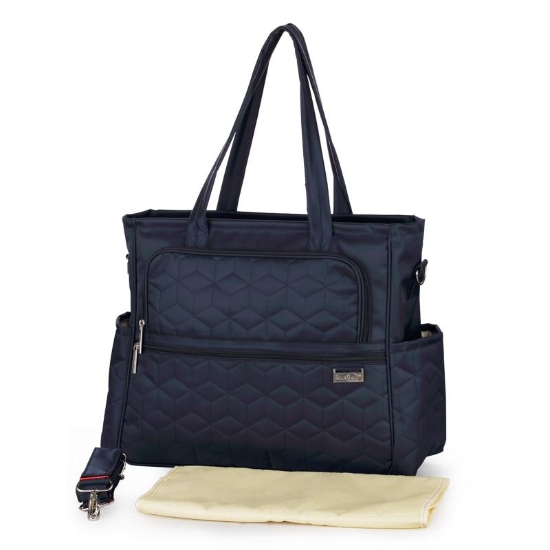 द्वीपीय प्रसूति मम्मी लंगोट बैग multifunctional माँ हैंडबैग देखभाल बैग उच्च गुणवत्ता वाले निविड़ अंधकार बच्चे डायपर बैग