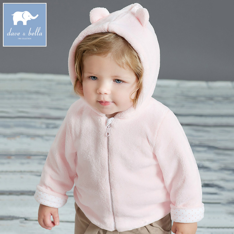 436-N dave bella spring autumn infant baby hooded cute bear jacket toddler coat lovely children 0-4 years old clothes 2018 baby girls red cardigan floral design cute spring coat for children teenage spring clothes age 456789 10 11 12 years old