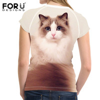FORUDESIGNS-Kawaii-Ragdoll-Cat-Print-Casual-Women-T-Shirts-Summer-Breathable-Tops-Clothing-Novelty-Bodybuilding-Tee-Shirts-Lady-5