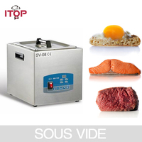 Sous Vide плита 8л 85 градусов постоянной температуры приготовления пищи с микрокомпьютером управления для вакуумной упаковки мяса