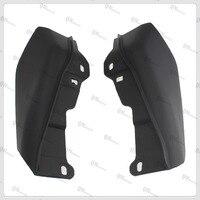 Black Mid Frame Black ABS Air Deflectors For Harley Road Glide Custom FLTRX 2010 2013 Road