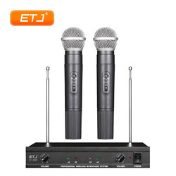 Professional Wireless Microphone 2 Handheld Transmitter Bodypack Headset Microphone Beltpack VHF Wireless Microfone U-101