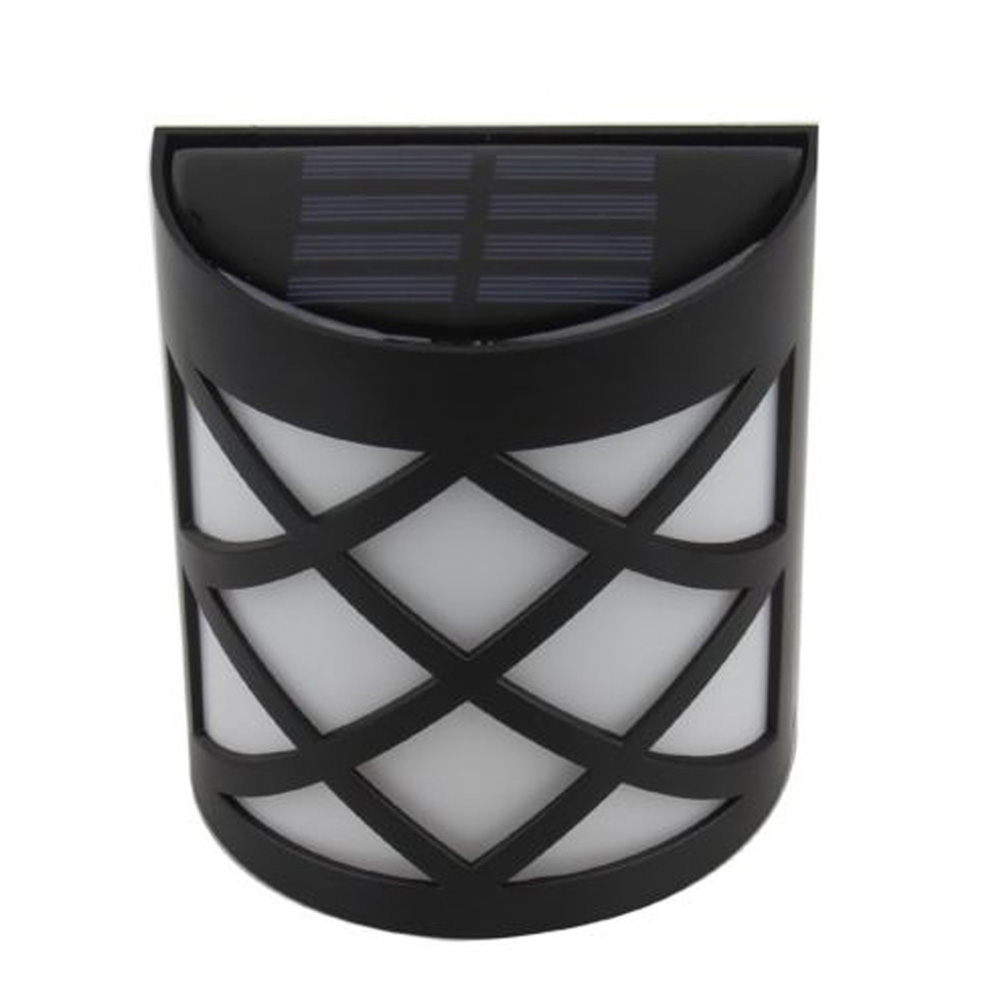 Solar Powered LED Wall Light Mount Outdoor Garden Path Landscape Fence Yard Lamp