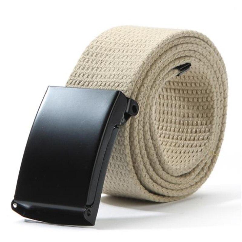 Unisex Waist   Belt   Mens Boys Plain Webbing Waistband Casual Canvas   Belt