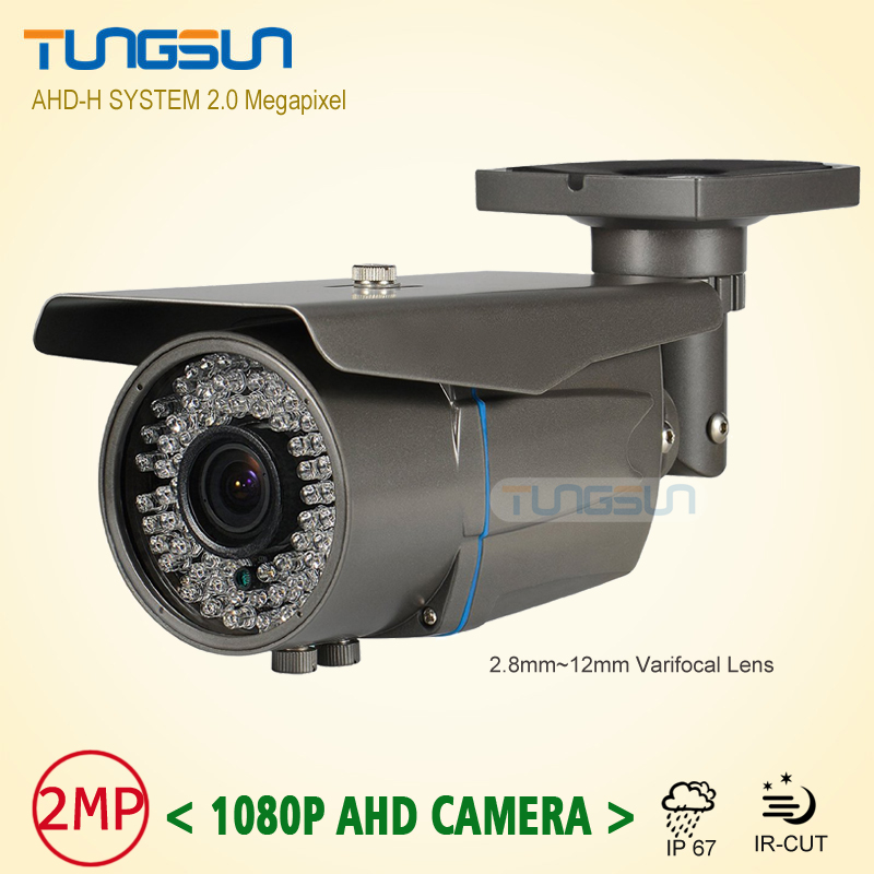2MP HD CCTV AHD Camera 1080p Zoom 2.8-12mm Lens Security Varifocal  Bullet Surveillance 78* LED Infrared Outdoor Waterproof new 2mp hd cctv ahd camera 1080p zoom 2