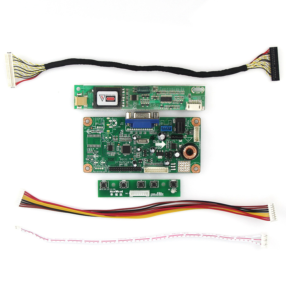 LCD/LED Control Driver Board (VGA)For LTN154XA-L01 CLAA154WB05AN  1280x800 LVDS Monitor Reuse Laptop