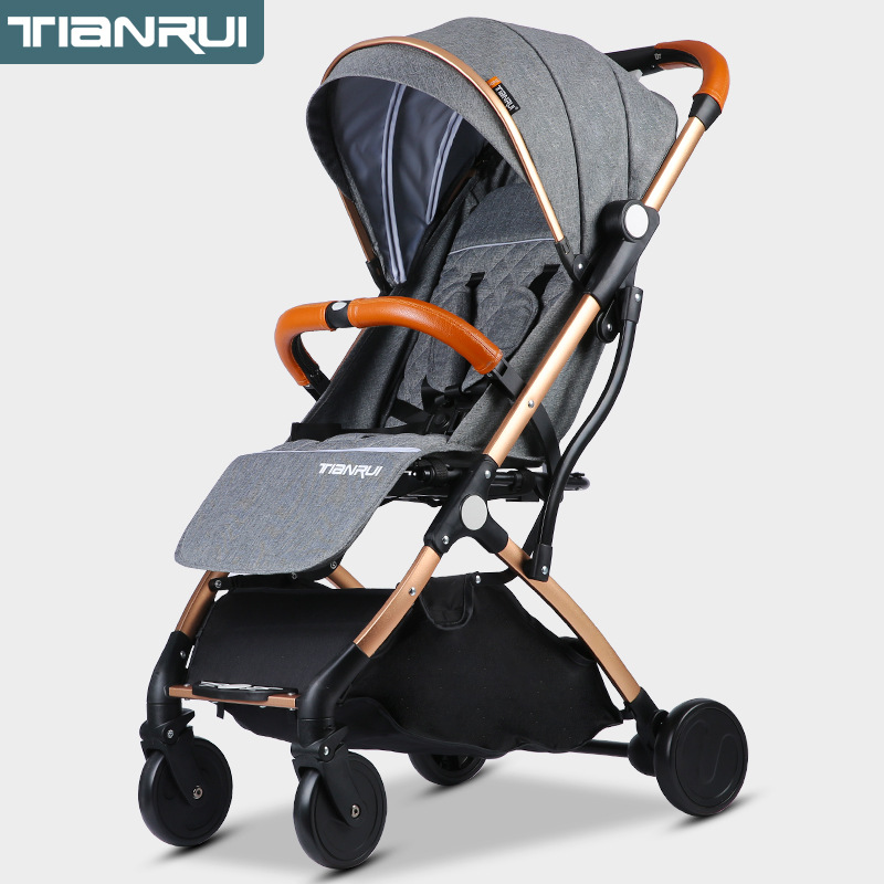 Bébé chariot ultra-léger portable, inclinable et pliant mini-enfant de poche parapluie chariot bébé BB chariot bébé assis strolle