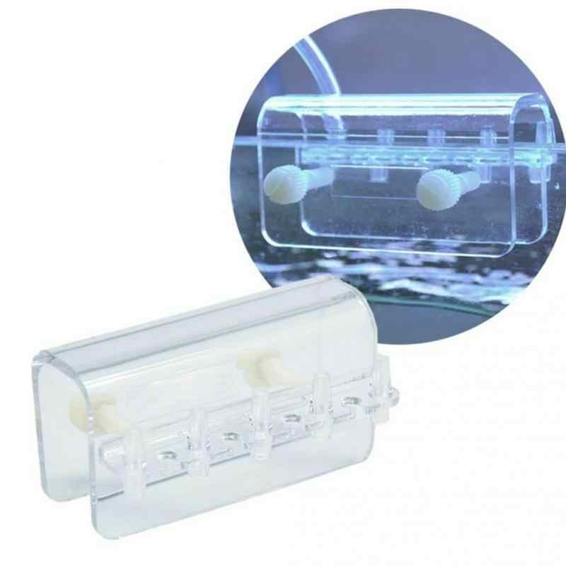 Soporte de abrazadera de 5 tubos, soporte de accesorio de acuario transparente, soporte de montaje, percha de tubo, bomba de dosificación