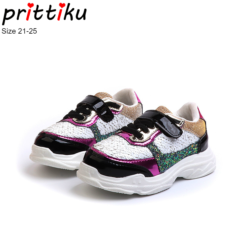 4fcc0ab4c337 Autumn 2018 Baby Toddler Girls Mermaid Sequin Sneakers Little Kid Casual  Sport Trainers Children Fashion Bling Brand Walk Shoes-in Sneakers from  Mother ...