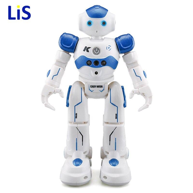 En Stock! USB De Charge Danse Geste Contrôle RC Robot Jouet Bleu Rose pour Enfants Enfants Cadeau D'anniversaire Présent