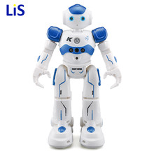 In Stock! USB Charging Dancing Gesture Control RC Robot Toy Blue Pink for Children Kids Birthday Gift Present цена и фото