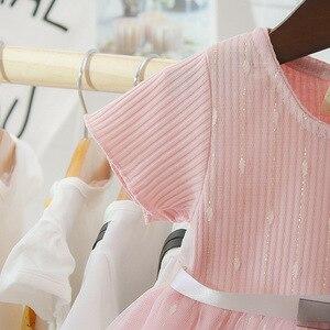 Летняя одежда для маленьких девочек хлопковый сетчатые платья-пачки, милые вечерние платья для дня рождения От 0 до 3 лет платье принцессы дл...