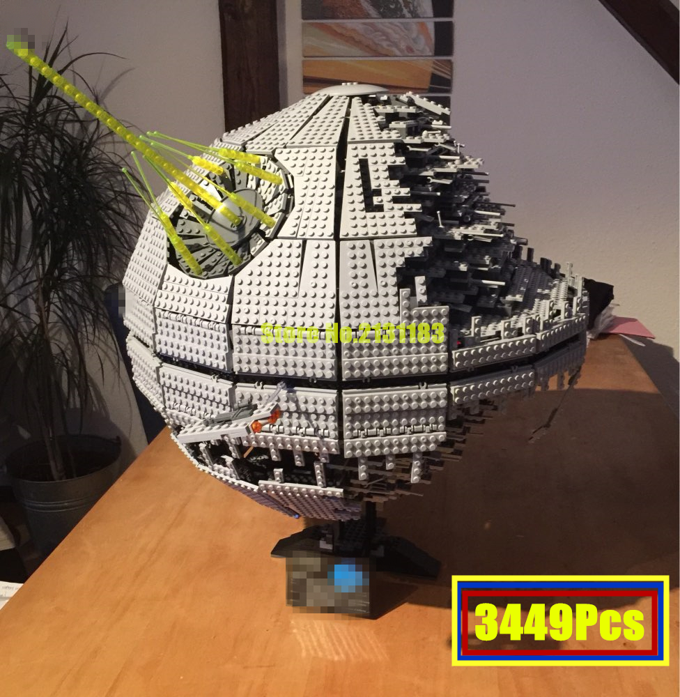 05026 star wars 3449Pcs Death Toy Star II Model Building Blocks Kits Bricks Children diy kid Toys Gift lepin Compatible 10143 lepin 05035 star wars death star limited edition model building kit millenniums blocks puzzle compatible legoed 75159