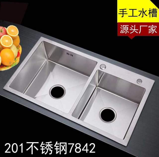 ITAS9914 Kitchen Sinks Stainless Steel Double Bowl Above Counter Undermount  Kitchen Wash Basin Hand Sink Size
