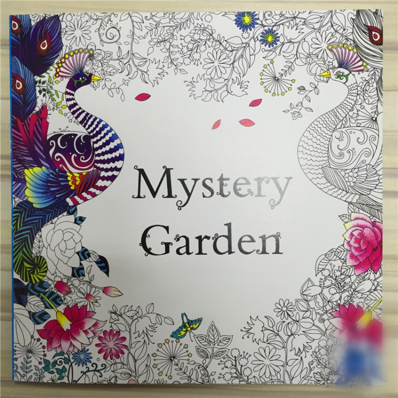 mystery garden coloring book for adults kids mandala the secret garden books antistress art quiet color drawing 2525cm 48pages in books from office - The Secret Garden Book