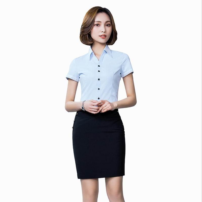 Women Skirt Suits 2 Piece Set Office Uniform Business Formal Women Office Ladies Clothes Uniform Style Business Shirt With Skirt