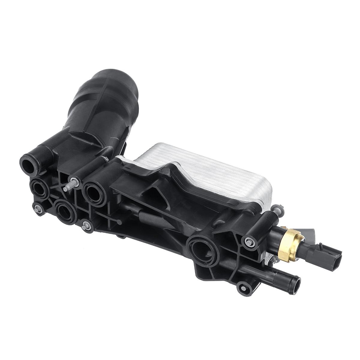 車のエンジンオイルフィルターアダプターのためのジープのためのダッジクライスラー 3.6 V6 2014 2015 2016 2017 68105583AF 68105583AB  グループ上の 自動車 &バイク からの オイルクーラー の中 2