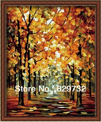 JIUJIU DIY digital oil painting Free shipping picture unique gift arcylic paint 40X50cm Shine infinity paint by number