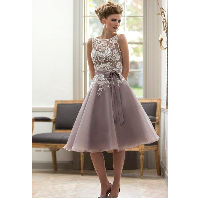 Online get cheap tea length purple bridesmaid dresses for Cheap wedding dresses tea length
