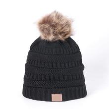 Вязаная шапочка, зимняя шапка, модная, для взрослых и детей, осенняя, плотная, теплая и облегающая шапка, мягкая вязаная шапка с биркой