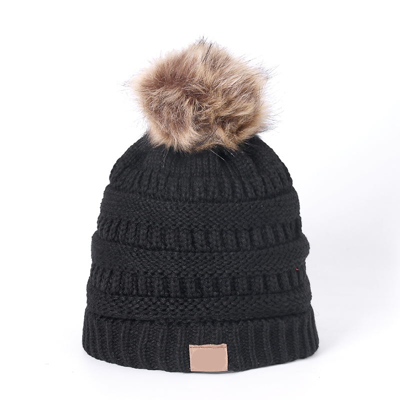 Knitted Beanie Winter Hat Fashion Adult Children Fall Thick And Warm And Bonnet Skullies Beanie Soft Knitted With Tag