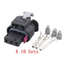 10 PCS Tyco AMP 3 Pin Waterproof Automotive Connectors imported original DJ7032C-1.5-21 Auto Wire Connector With Terminals
